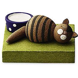 Katze braun schlafend  -  1cm