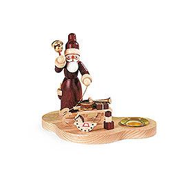 Kerzenhalter  -  Weihnachtsmann mit Schlitten  -  9cm