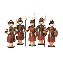 Krippenfiguren  -  5 Soldaten  -  13cm