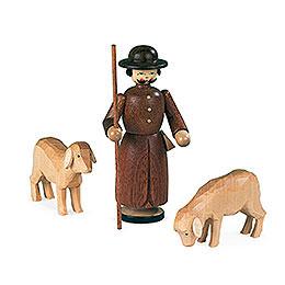 Krippenfiguren  -  Schäfer mit Schafen  -  13cm