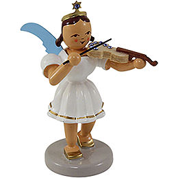 Kurzrockengel farbig Violine mit SWAROVSKI ELEMENTS  -  6,6cm