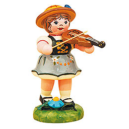 Lampion Girl with Violin  -  8cm / 3 inch