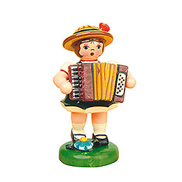 Lampion girl with Accordion  -  8cm / 3inch