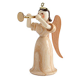 Langrockengel mit Trompete, natur  -  6,6cm
