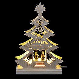 Lichterspitze  -  Mini - Baum Weihnachtssänger  -  LED  - 23,5 x 15,5 x 4,5cm