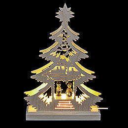Light Triangle Carol Singers  -  LED  -  23.5 x 15.5 x 4.5cm / 9.06 x 5.91 x 1.57 inch
