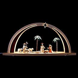 Light arch Nativity scene LED  -  60 x 25 x 11cm / 23.6 x 9.8 x 4.3inch