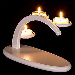 Modern Light Arch  -  White  -  without Figurines  -  25x13x10cm / 9.8x5.1x3.9 inch