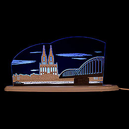 "Motive light ""Cologne Cathedral""  -  47x22,2cm / 18.5x8.7inch"