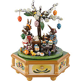 Music Box Busy Easter Bunnies  -  23cm / 9 inch