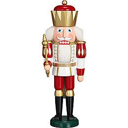 Nussknacker Exklusiv König weiß - rot  -  40cm
