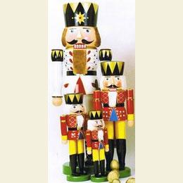 Nussknacker König rot  -  90cm