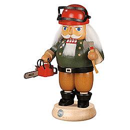 Nussknacker Waldarbeiter mit Motorsäge  -  23cm