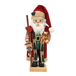 Nussknacker Weihnachtsmann bordeaux  -  47cm