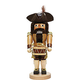 Nutcracker drummer natural  -  40cm / 15.7inch