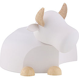 Ox  -  modern white/natural  -  large  -  6cm / 2.4inch