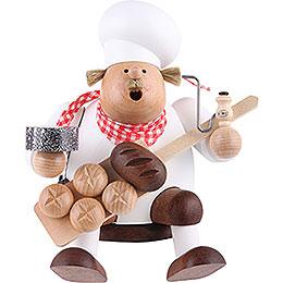 Räuchermännchen Kantenhocker Bäcker  -  17cm