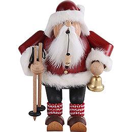 Räuchermännchen Weihnachtsmann auf Skier  -  20cm
