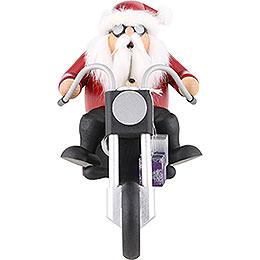 Räuchermännchen Weihnachtsmann auf Trike  -  15cm