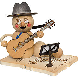 Räucherwurm Gitarrenspieler Rudi  -  14cm