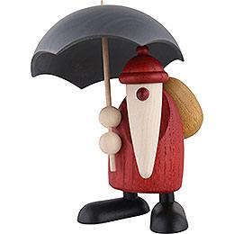 Santa Claus with Umbrella  -  12cm / 4.7 inch