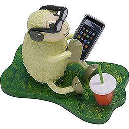 """Schaf """"Smarty"""", mit Smartphone und Brille  -  5,5cm"""