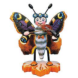 Schmetterling Pfauenauge - Geige  -  8cm