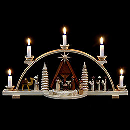Schwibbogen  -  Christi Geburt  -  47cm