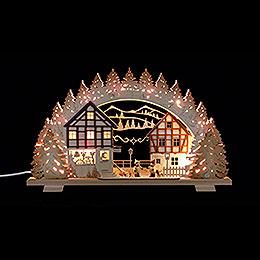 Schwibbogen 'Der kleine Holzwurm'  -  53x31x4,5cm