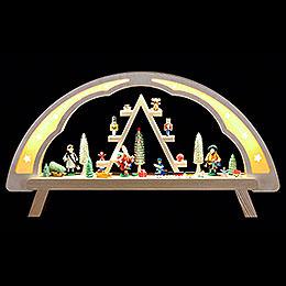 Schwibbogen Weihnachtsmarkt  -  58x31cm