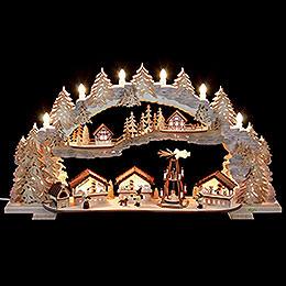 Schwibbogen  -  Weihnachtsmarkt (variabel)  -  72x43x13cm