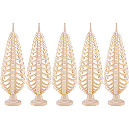 Seiffen Wood chip tree set of 5  -  15cm / 5.9inch