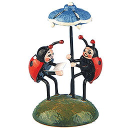 Set of two -  Ladybug duet  -  4,5cm / 1,75inch