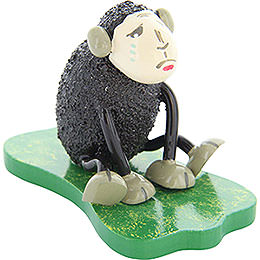 "Sheep ""Depri"", crying, black  -  5cm / 2inch"