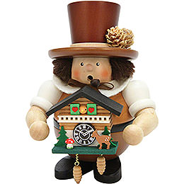 Smoker Black Forester with Cuckoo Clock natural  -  17,5cm / 6.8inch