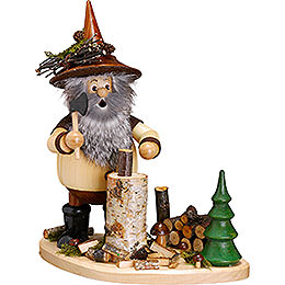 Smoker  -  Forest Gnome on Board Lumberjack  -  26cm / 10 inch