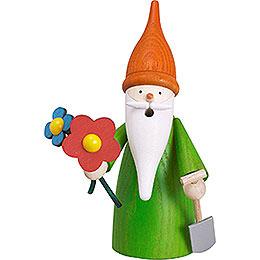 Smoker Garden Gnome  -  16cm / 6 inch