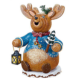 Smoker Gnome Rudolph Reindeer 14cm / 5inch