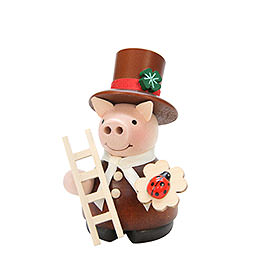 Smoker  -  Lucky Pig Chimney Sweep Natural  -  10cm / 4 inch