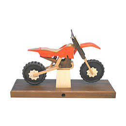 Smoker Motorcycle Cross 27 x 18 x 8cm / 11 x 7 x 3 inch