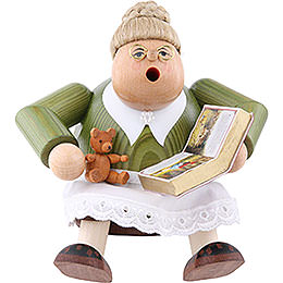 Smoker Reading Aunt  -  16cm / 6 inches