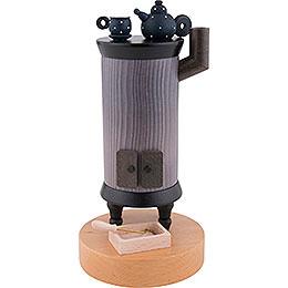Smoker  -  Round Iron Stove  -  22cm / 8.7 inch