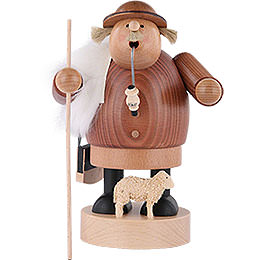 Smoker  -  Shepherd with Staff  -  18cm / 7 inch