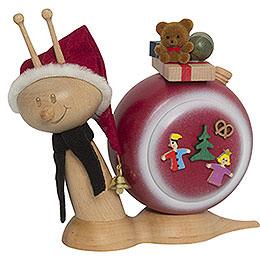 Smoker Snail Sunny Christmas Snail  -  16cm / 6.3inch