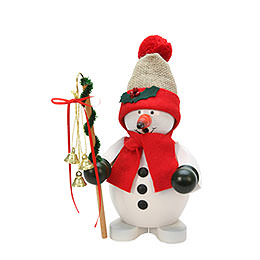 Smoker  -  Snowman  red  -  23cm / 9 inch