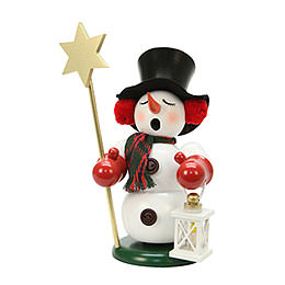 Smoker Snowman with Star  -  23cm / 9 inch