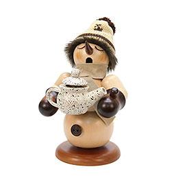Smoker Snowman with coffee pot  -  20,5cm / 8 inch