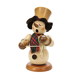 Smoker Snowman with triangle natural colors  -  23cm / 9 inches