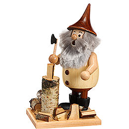 Smoker Timber - Gnome Lumberjack on a board  -  15cm / 6 inches