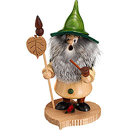 Smoker Tree Gnome, Linden leaf  -  18cm / 7inch